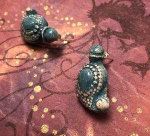 Medium turquoise ethnic stud earrings