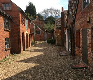 Farnham pottery courtyard