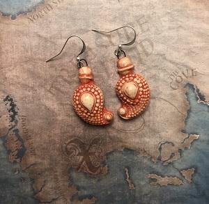 Indian mango pattern earrings