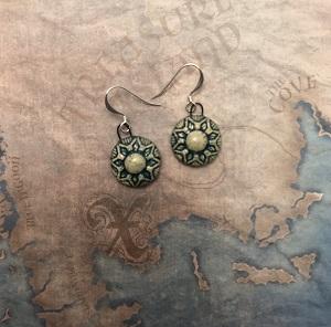 Moroccan style turquoise earrings