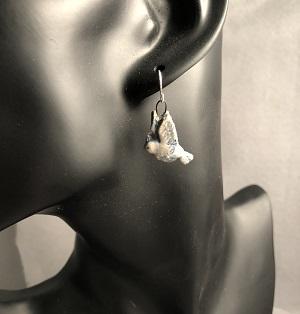 Little bird petite ceramic earrings