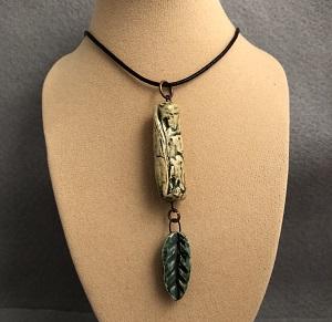 Zen green pendant