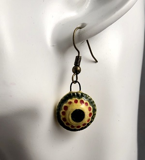 Mexican summer circle earrings