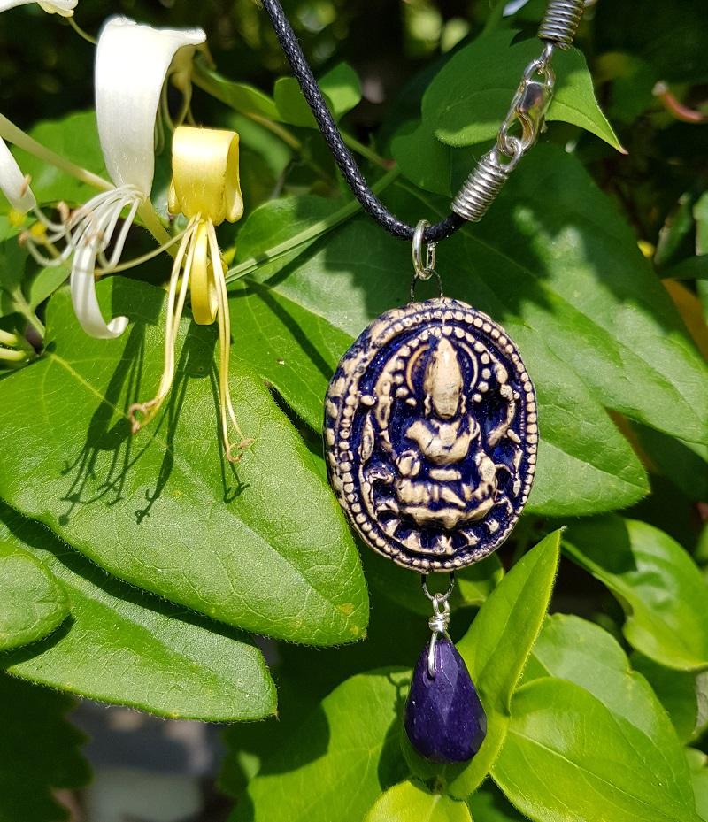 Indian Goddess Pendant - Indigo