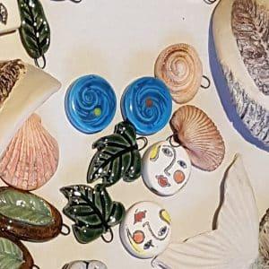 Fired handmade ceramic jewellery made in UK