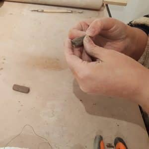 Handmade gifts showing building process of to make jewellery