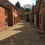Main courtyard at Farnham pottery