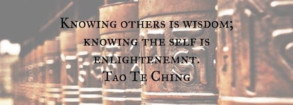 Spiritual page banner with Tao Te Ching quotation ethnic jewellery