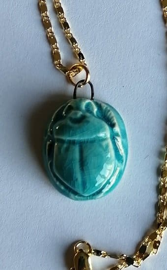 Blue scarab necklace ethnic Jewellery