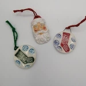 Ceramic handmade Christmas decoration