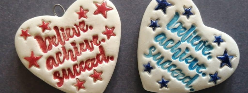 Personalised messages on ceramic products