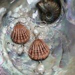 Handmade ceramic shell necklace