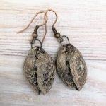 Amazingly realistic ceramic beech nut earrings