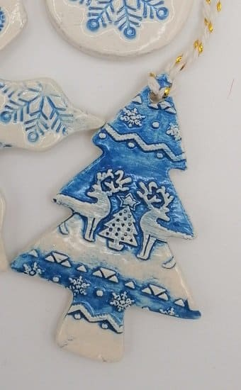 Blue Christmas tree decoration handmade