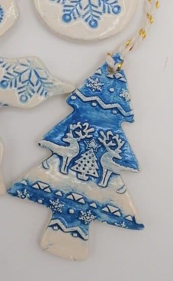 Blue Christmas tree decoration handmade