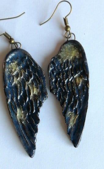 Galaxy angel wing earring