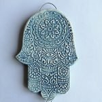 Hamsa hand wall plaque ethnic inspired gift