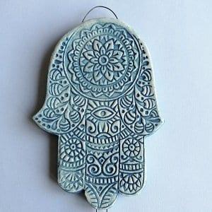 Hamsa hand wall plaque ethnic inspired gift