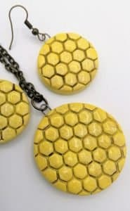 Honeycomb handmade ceramic summer jewellery set