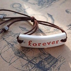 Forever bracelet handmade ceramic