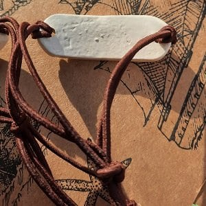 Rear of handmade ceramic bracelet